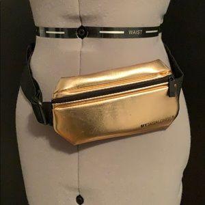 Rose Gold metallic belt bag